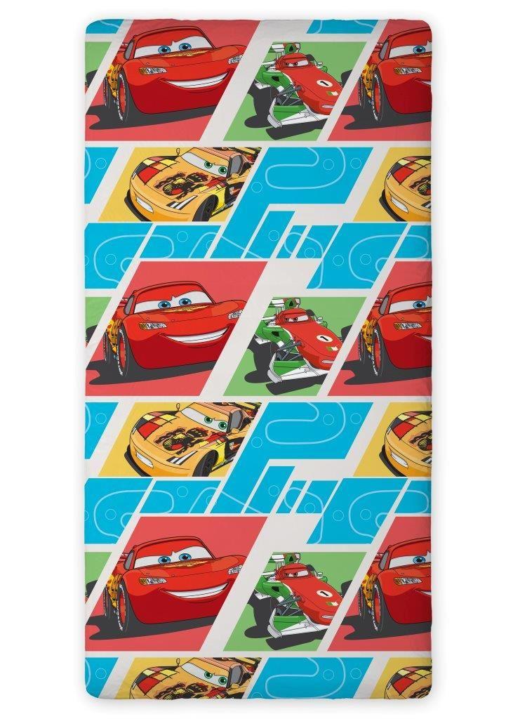 Bavlněné prostěradlo Cars 02 200x90
