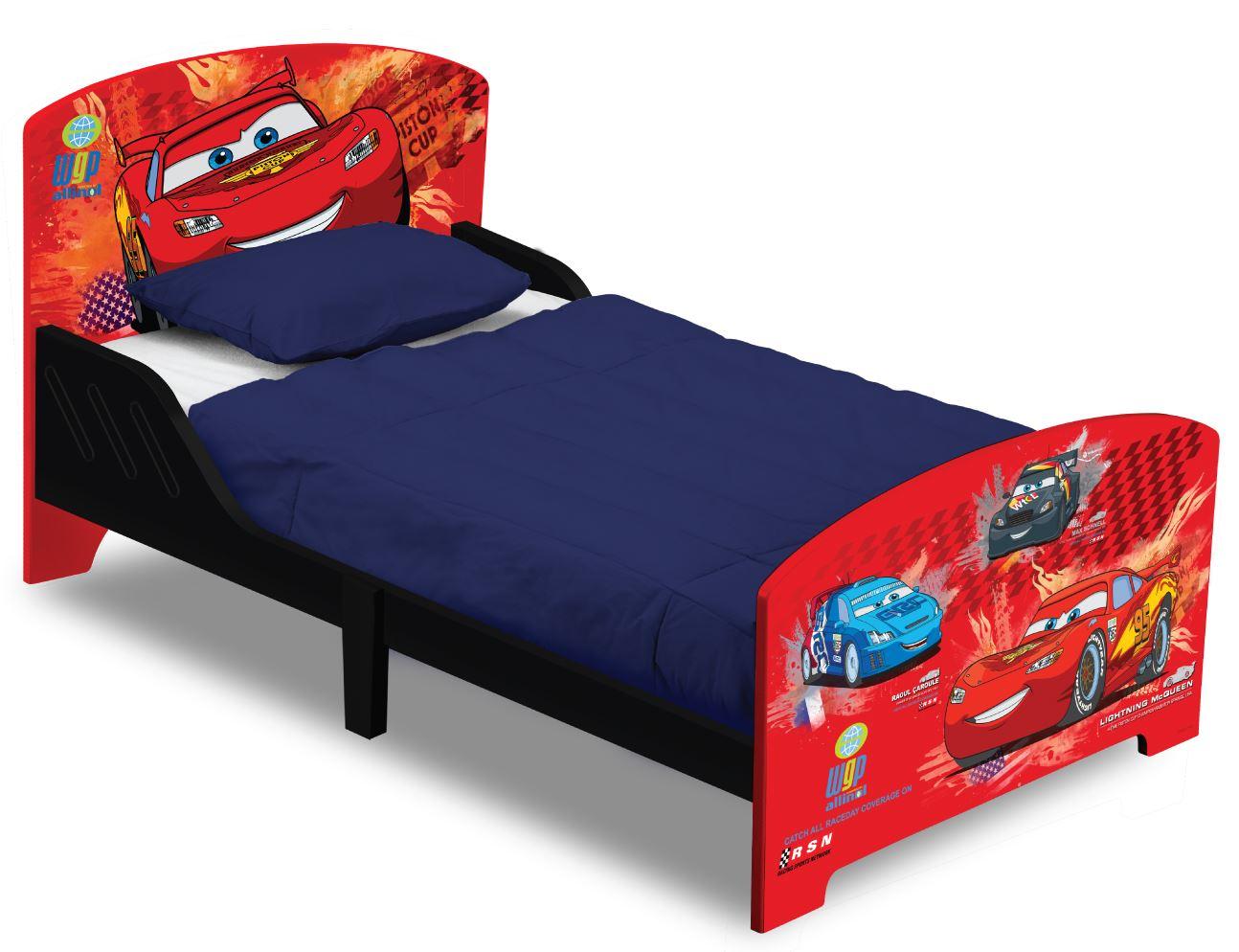 Dětská dřevěná postel Cars 140x70 cm