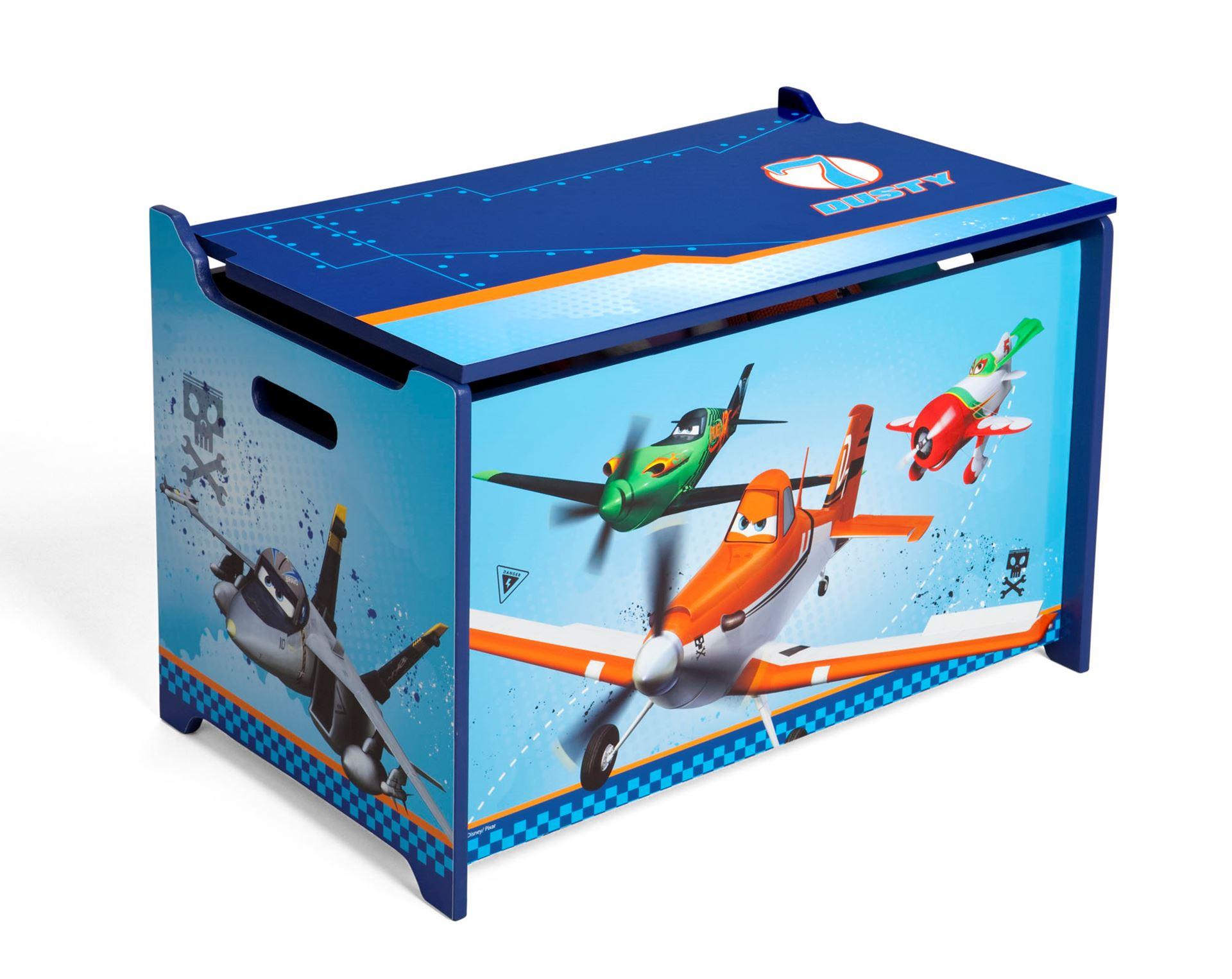 Dětská dřevěná truhla Letadla