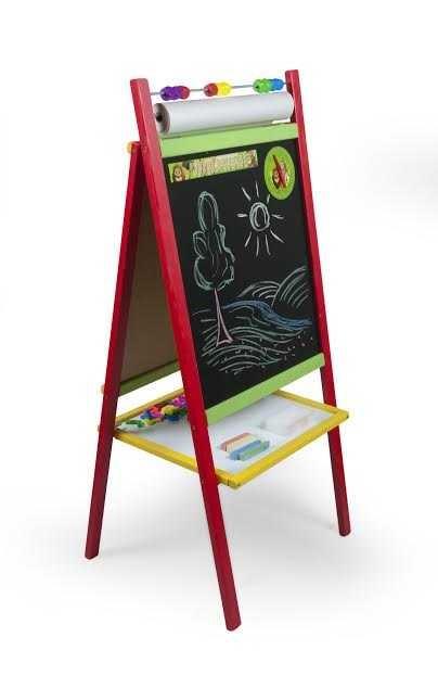 Dětská magnetická tabule 4v1 barevná - výška 98 cm