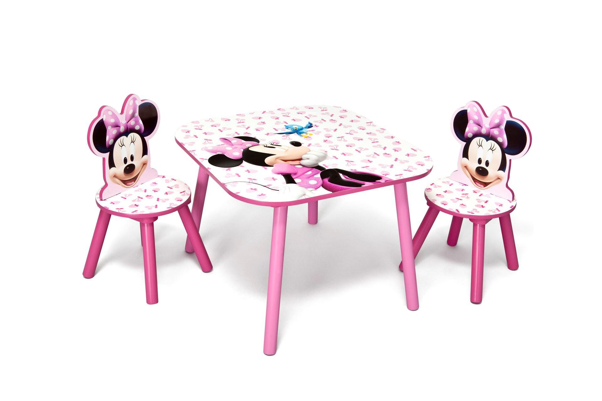 Dětský stůl s židlemi Minnie III Myška