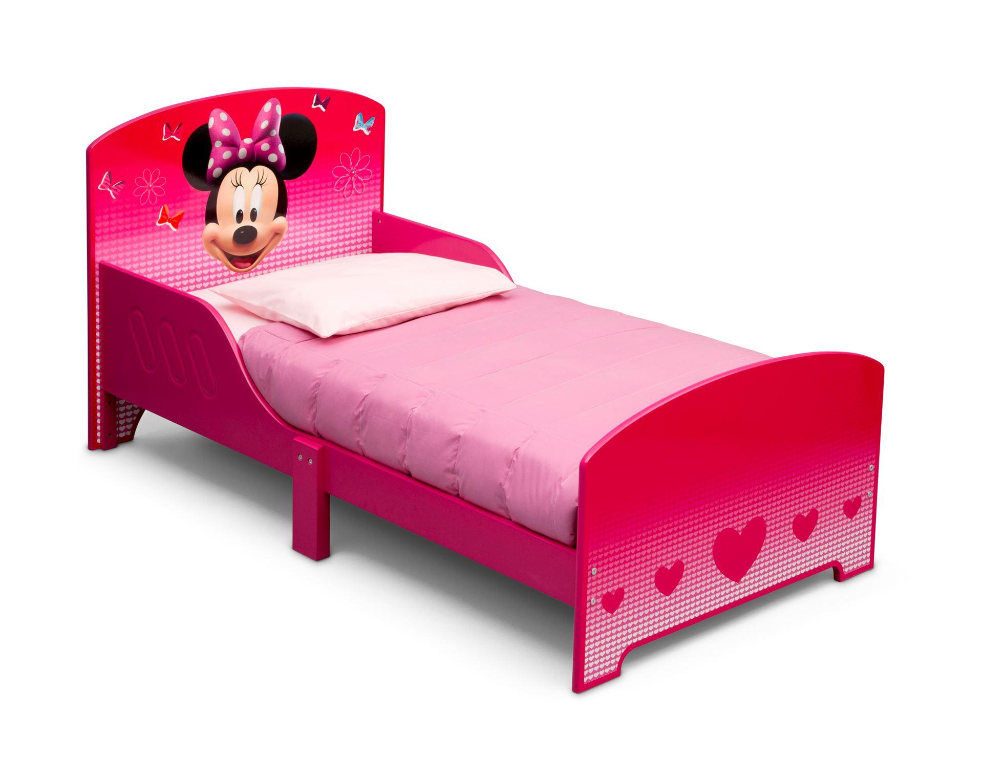 Dětská dřevěná postel Myška Minnie 140x70 cm