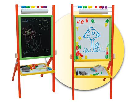 Dětská otočná tabule 4v1 barevná - výška 87 cm