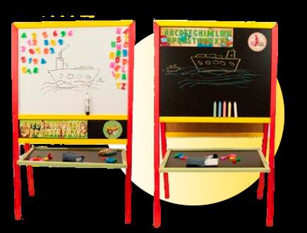 Dětská magnetická tabule 2v1 barevná - výška 108 cm