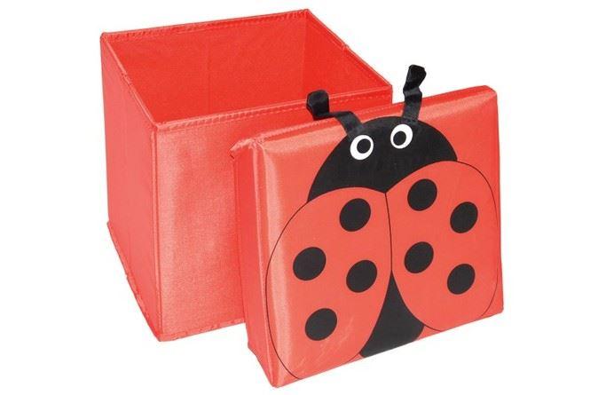 Skládací úložný box - sedátko 2v1 Beruška