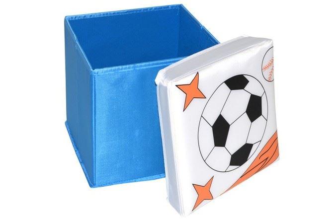 Skládací úložný box - sedátko 2v1 Fotbalový míč