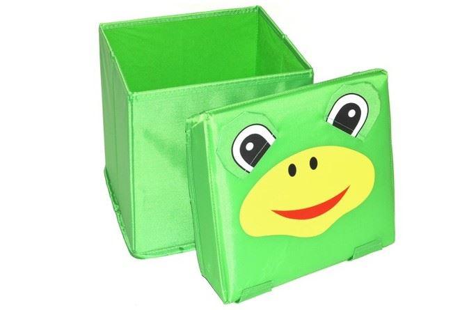 Skládací úložný box - sedátko 2v1 Žabička