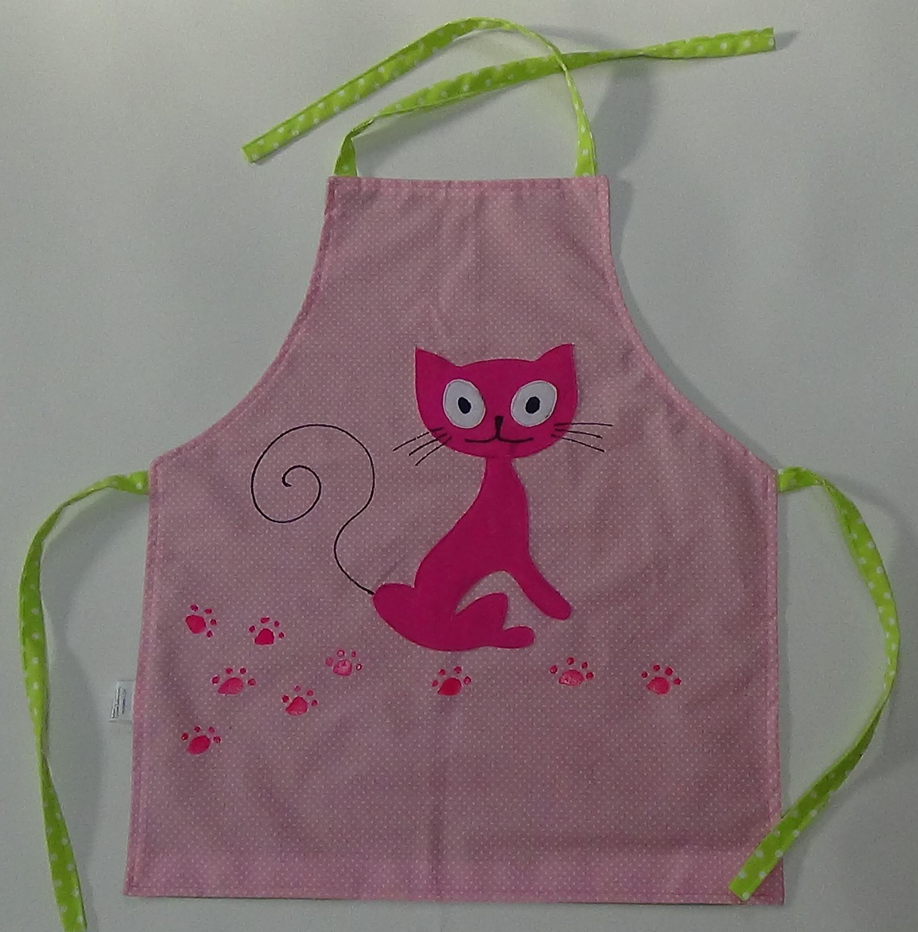 Dětská kuchyňská zástěra - Kočička