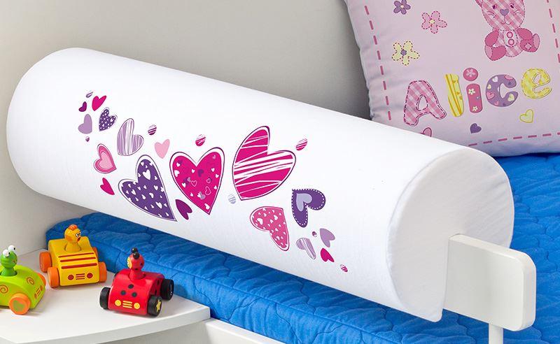 Dětský chránič na postel - Srdíčka