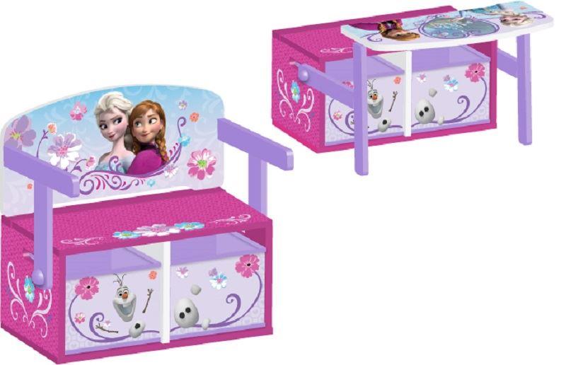 Dětská lavice s úložným prostorem Frozen