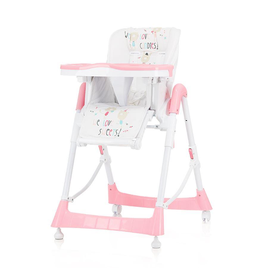 Dětská jídelní židlička Comfort Plus - Růžová
