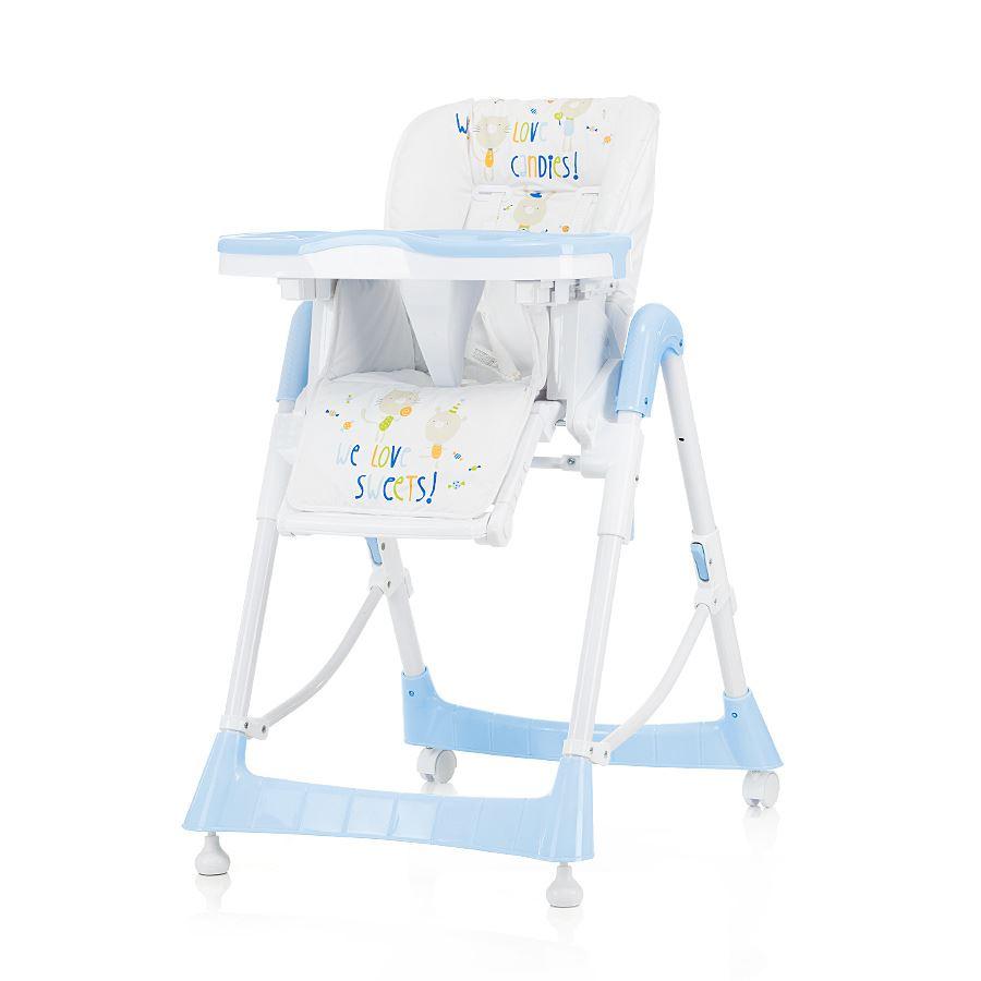 Dětská jídelní židlička Comfort Plus - Baby modrá