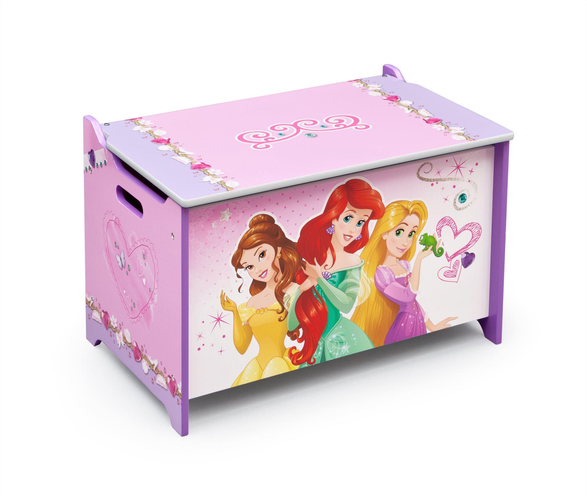 Dřevěná truhla na hračky Princess I