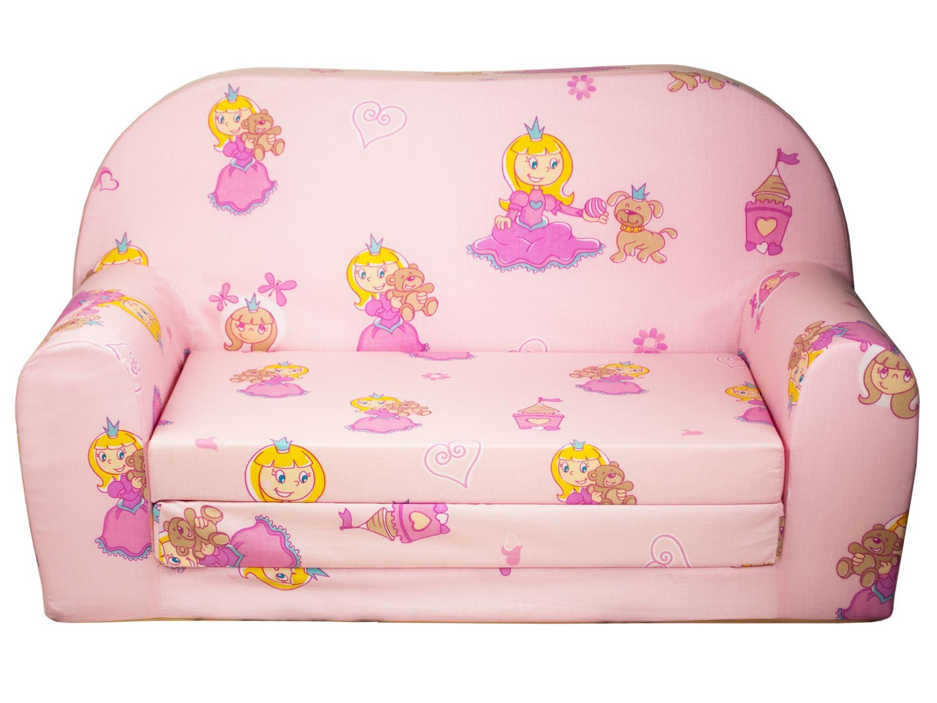 Rozkládací dětská mini pohovka Princezna