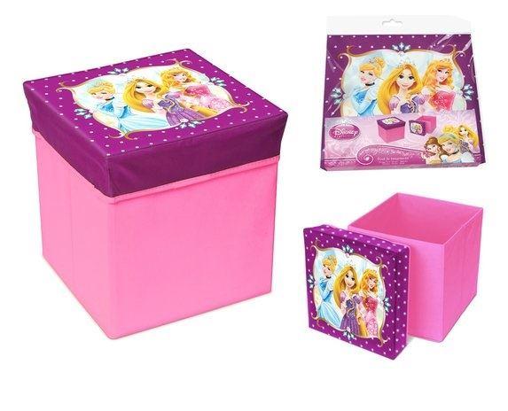 Skládací úložný box - sedátko 2v1 Princess