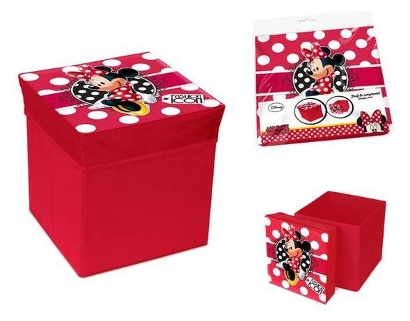 Skládací úložný box - sedátko 2v1 Minnie
