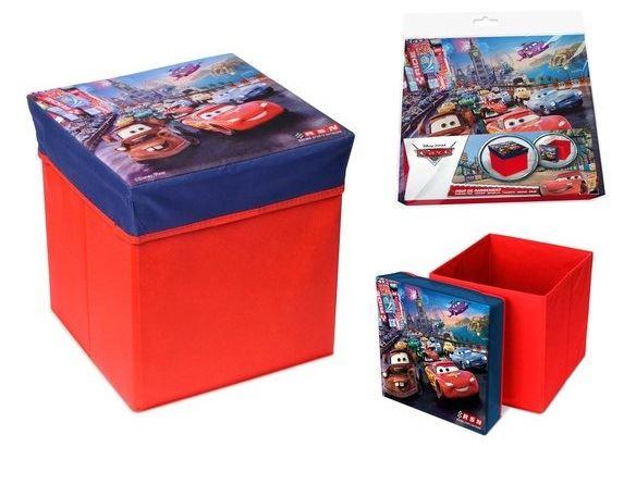 Skládací úložný box - sedátko 2v1 Cars