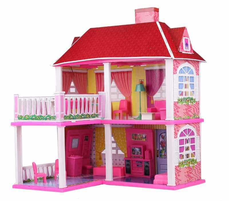 Velký domeček pro panenky s terasou
