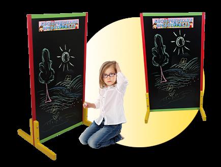 Dětská tabule barevná - výška 111cm