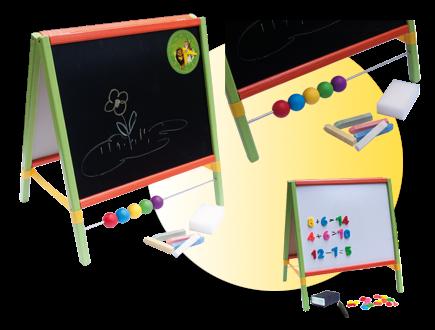 Dětská magnetická tabule 3v1 barevná - výška 45 cm