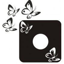 Samolepící velurová ochrana vypínače Motýlci - mix barev
