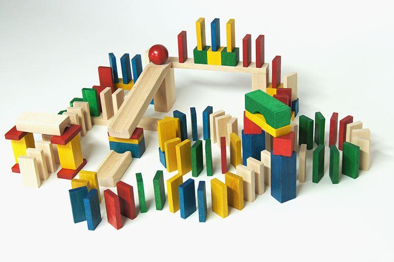 Dřevěné domino 430ks