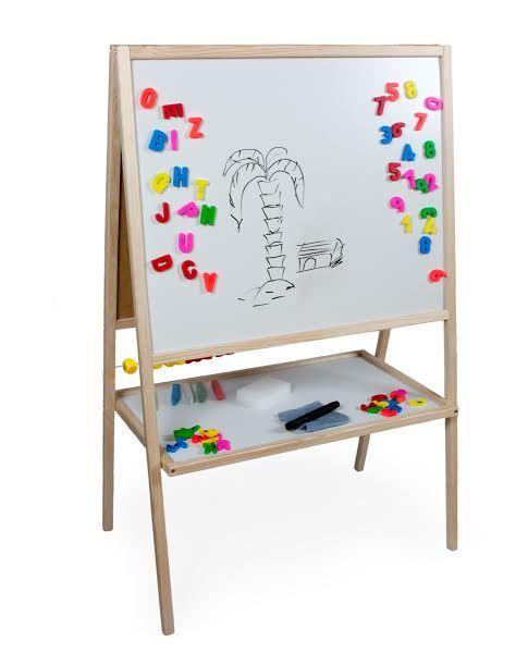 Dětská magnetická tabule 3v1 přírodní - výška 99 cm