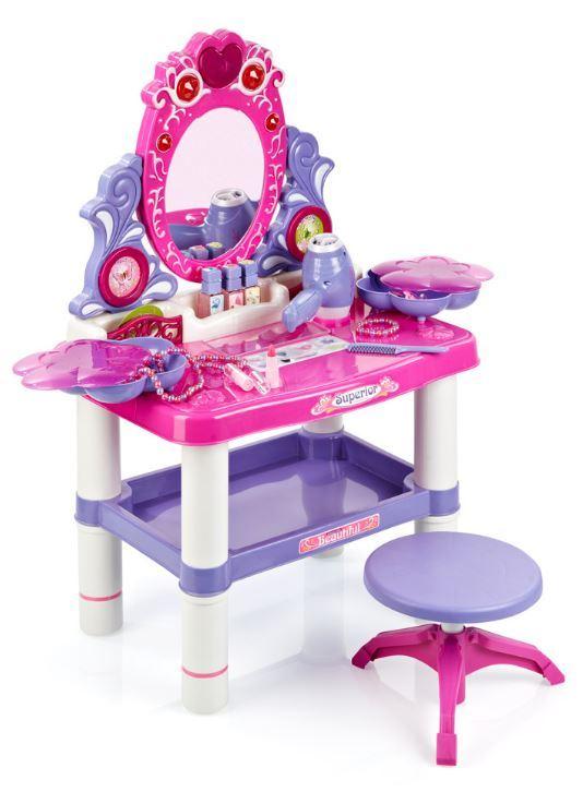 Dětský toaletní stolek s otočným zrcadlem