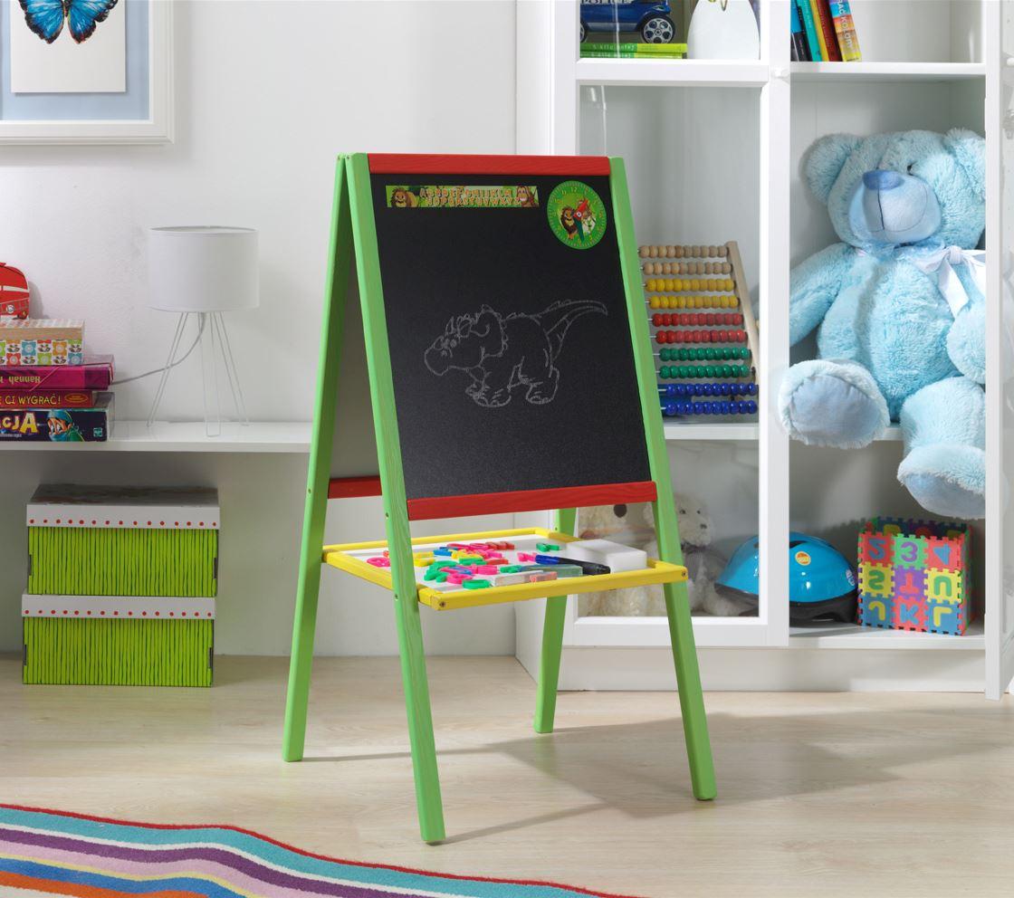 Dětská magnetická tabule 2v1 barevná - výška 88 cm