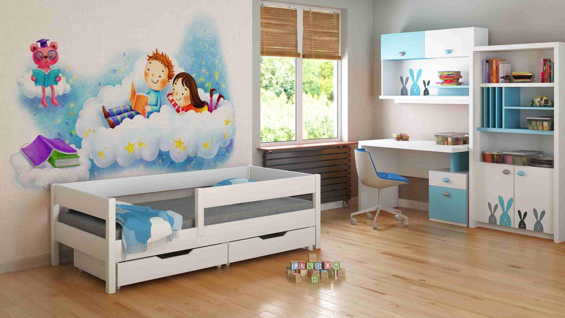 Dětská postel - MIX - 140x70cm Bílá