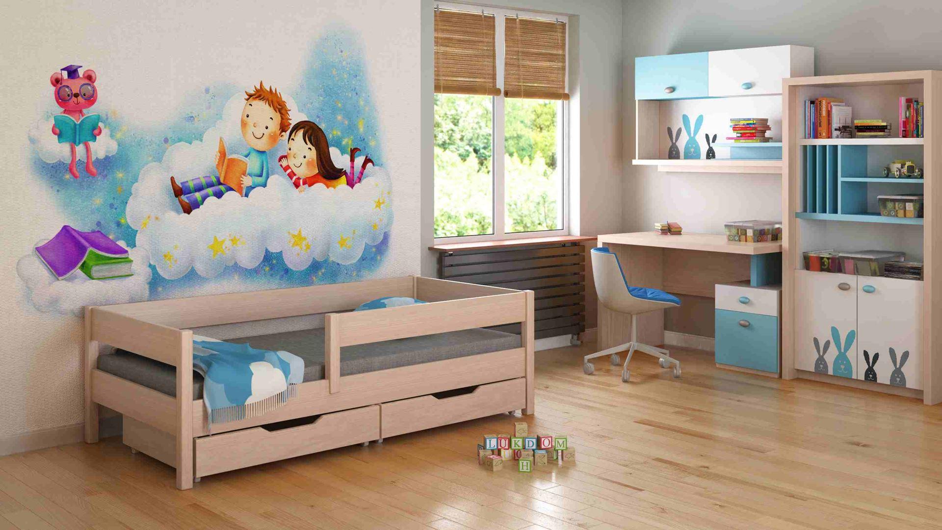 Dětská postel - MIX - 140x70cm Dub