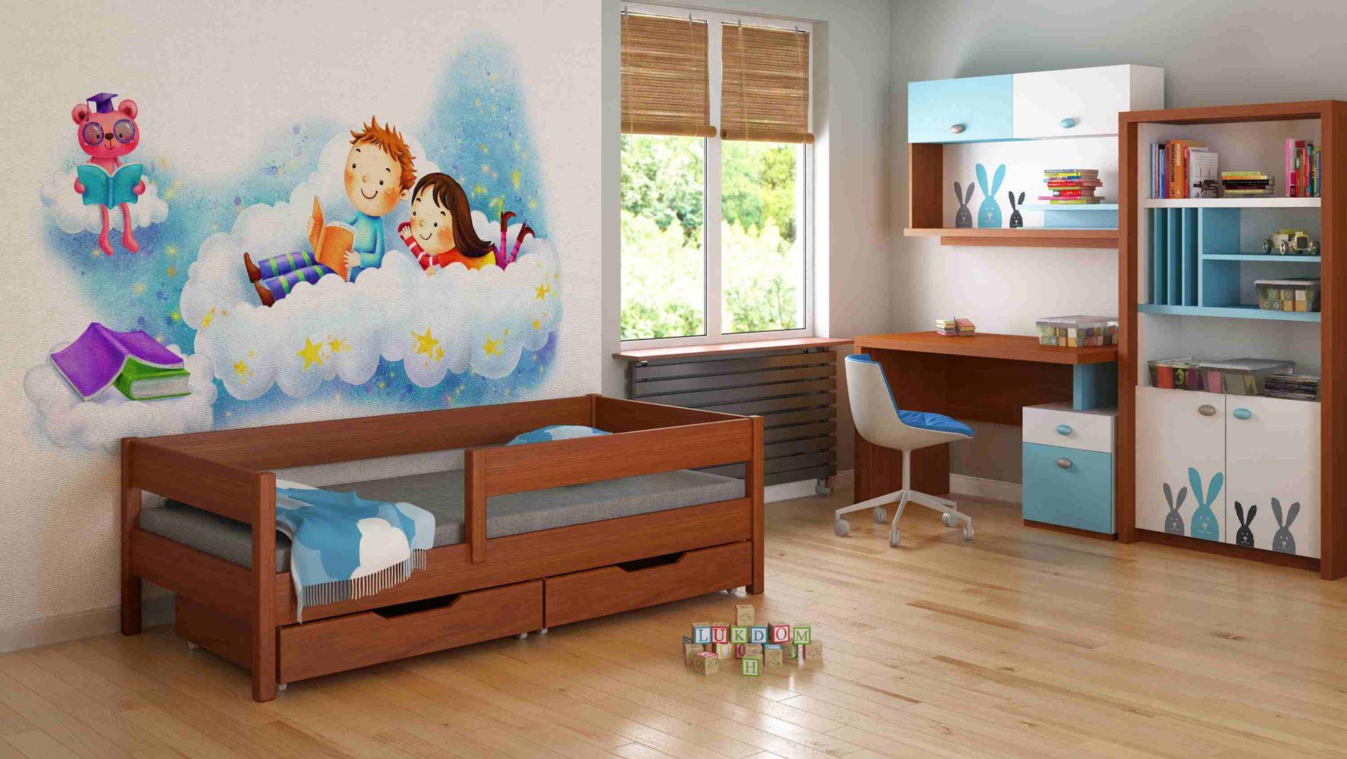 Dětská postel - MIX - 140x70cm Palisandr