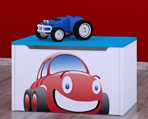 Dětská komoda na hračky - auto