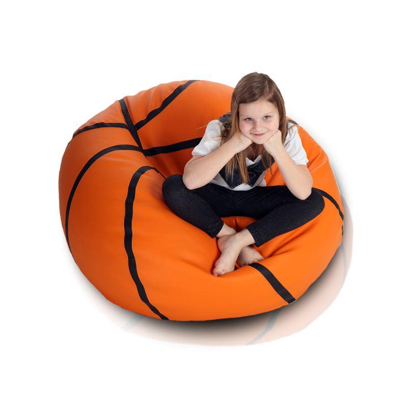 Sedací vak Basketbalový míč - Eko kůže