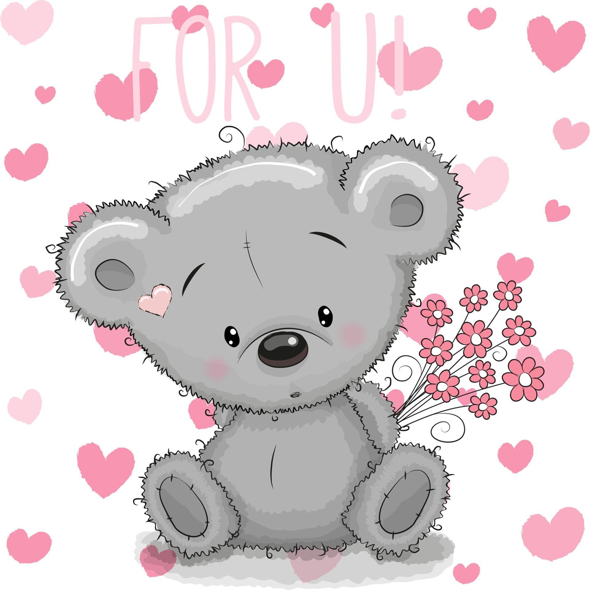 Medvídek samolepka na zeď - S