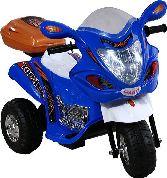 Dětská elektrická motorka - Modrá