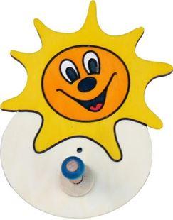 Obrázek Dřevěný 1 věšáček - Sluníčko