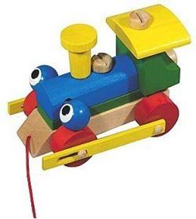 Obrázek Dřevěný vláček - Mrkací mašinka