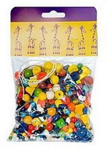 Obrázek Dřevěné korálky - Mix perlí barevných 70g