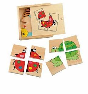 Obrázek Mini puzzle Beruška v dřevěné krabičce