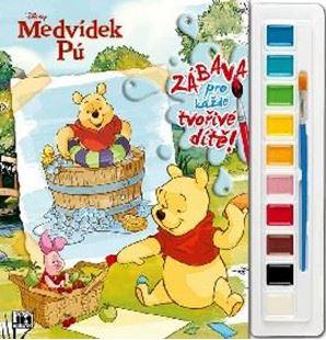 Obrázek Omalovánky set s barvami A4 Medvídek Pú