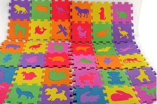 Obrázek Pěnové puzzle písmena, číslice, zvířátka - 72 dílů