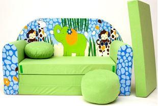 Obrázek Dětská pohovka s bobkem a polštářkem Jungle Z16+