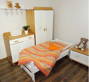 Obrázek Dětské povlečení - oranžové proužky 160x120
