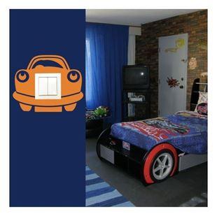 Obrázek Samolepící textilní ochrana vypínače - auto č. 10