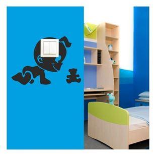 Obrázek Samolepící textilní ochrana vypínače - miminko č. 10
