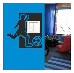 Obrázek Samolepící textilní ochrana vypínače - fotbalista č. 10