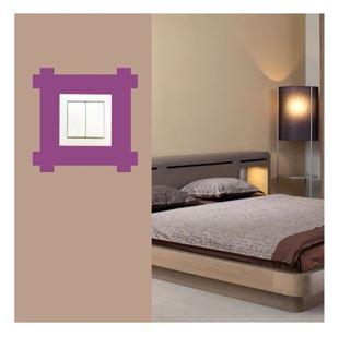Obrázek Samolepící textilní ochrana vypínače - čtverec III č. 10