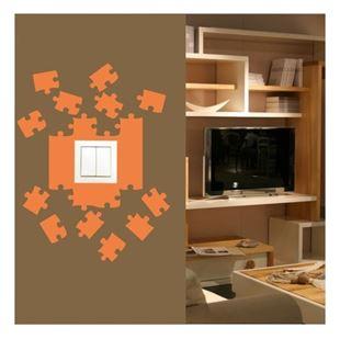 Obrázek Samolepící textilní ochrana vypínače - puzzle č. 10