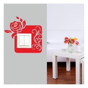 Obrázek Samolepící textilní ochrana vypínače - růže č. 10